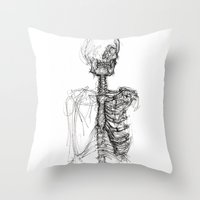 anatomy Throw Pillows featuring Anatomy  by BunnyBrush