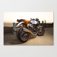 ducati Canvas Prints featuring Ducati 004 by Austin Winchell