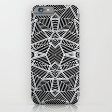Abstract Lines Black and Silver M Slim Case iPhone 6s