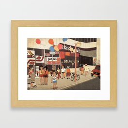 Dizengoff Center in the 80s Framed Art Print
