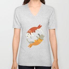 Fish A Cat Fish Cat Unisex V-Neck