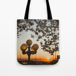 Sunset in Newport Tote Bag