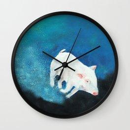 Swimming Piggy Wall Clock