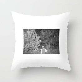come here little boy - he heard the gentle whisper from the woods Throw Pillow