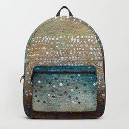 Landscape Dots - Turquoise Backpack
