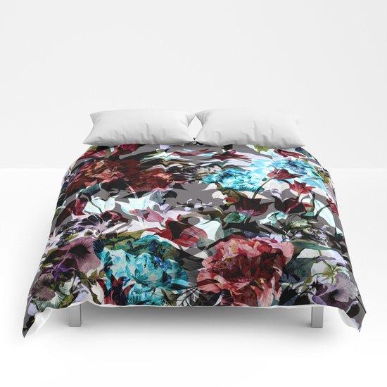 Seamless Absract Flower Pattern Comforters
