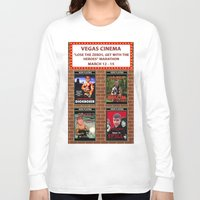 cinema Long Sleeve T-shirts featuring VEGAS CINEMA!!! by Party Dragon
