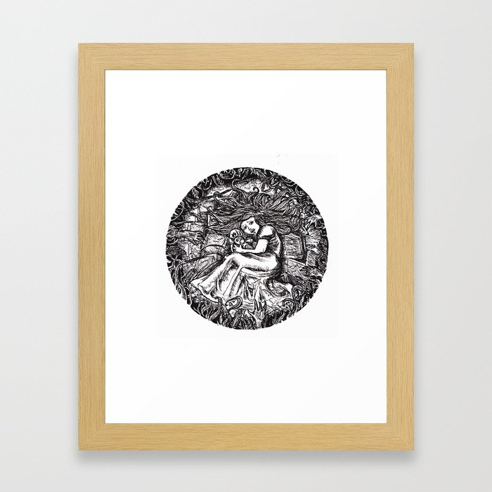 No Woman Is A Whore Framed Art Print