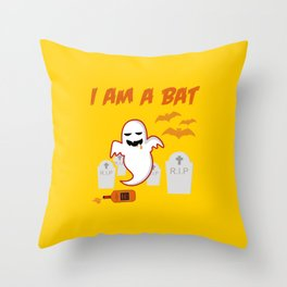 Halloween Whiskey Drinker Throw Pillow