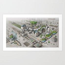 Mi Factory Art Print