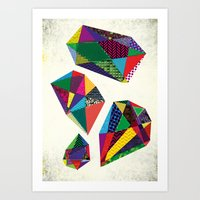 Diamonds are a Girl's Best Friends Art Print