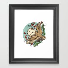 Winter Owl Framed Art Print