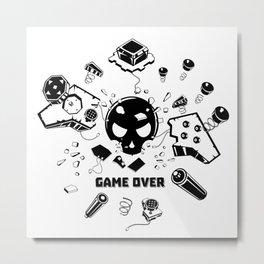 Video Game Over Metal Print