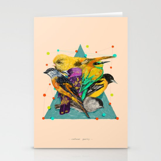 Colour Party Stationery Cards