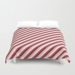 Pomade Tones Inclined Stripes Duvet Cover