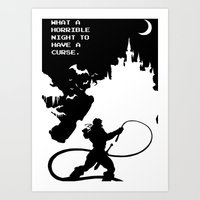 castlevania Art Prints featuring Castlevania by Darth Paul