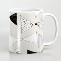 bow Mugs featuring bow pattern by Georgiana Paraschiv