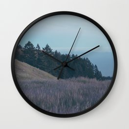 Mountain Side Views Wall Clock