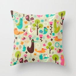 Birdsville Throw Pillow