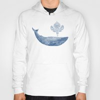 damask Hoodies featuring The Damask Whale  by Terry Fan