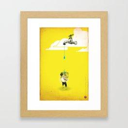 "Glue Network Print Series ""Water / Hygiene / Sanitation"" Framed Art Print"