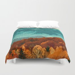 Of Mountains and Forests Duvet Cover