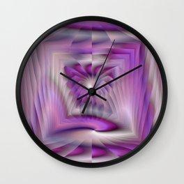 Purple Pleated Spiral Wall Clock