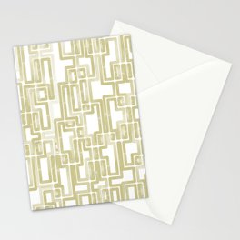 Labyrinth Golden lines Stationery Cards