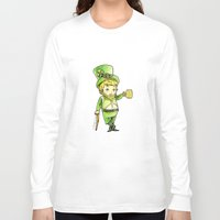 niall Long Sleeve T-shirts featuring Leprechaun Niall by Drawpassionn
