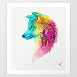 Fantasy Wolf Art Print