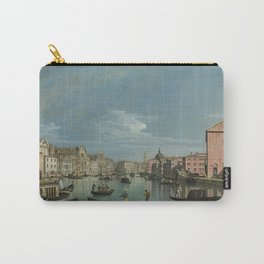 Venice: The Grand Canal facing Santa Croce by Bernardo Bellotto Carry-All Pouch