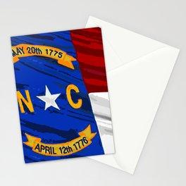 North Carolina Fancy Flag Stationery Cards