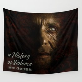 A History of Violence, David Cronenberg movie poster, Viggo Mortensen, Ed Harris Wall Tapestry