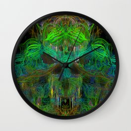 Seaweed Ghost Breath (abstract, psychedelic, scary) Wall Clock