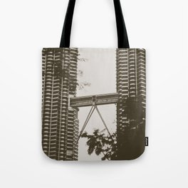 Bridge between Twin Towers Tote Bag