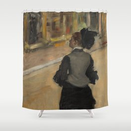 Woman Viewed from Behind (Visit to a Museum) Shower Curtain