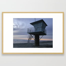 San Elijo State Beach Framed Art Print