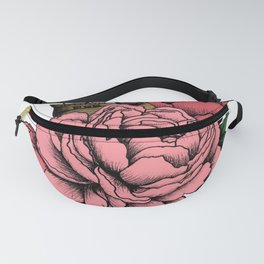 Sailing a Sea of Peonies - Pink Fanny Pack