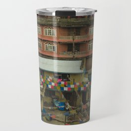 Kathmandu City Roof Tops - Architecture 05 Travel Mug