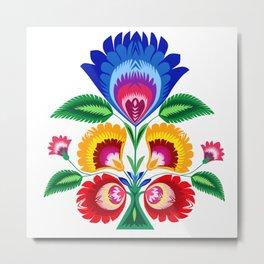 folk flower Metal Print