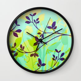 Fanciful Forest Wall Clock