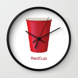 Red Cup Wall Clock