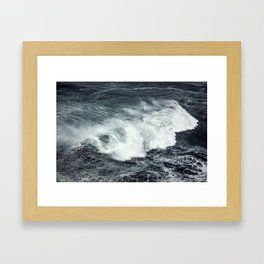 Crashing Framed Art Print