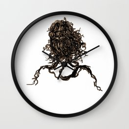 Messy dry curly hair 1 Wall Clock
