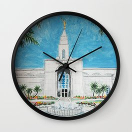 Campinas Brazil LDS Temple Wall Clock