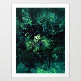 Green bouquet Art Print