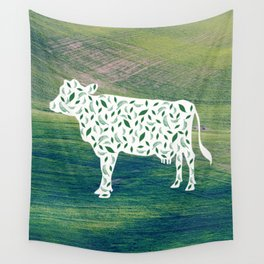 Plant Based Cow Wall Tapestry