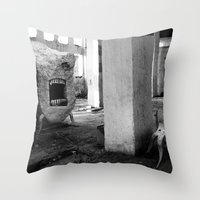 nightmare Throw Pillows featuring nightmare by MatoSwamp