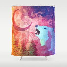 Howl @ The Moon Shower Curtain