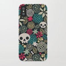 Skulls and flowers. iPhone X Slim Case